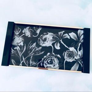 Sonia Kashuk Floral Print Gold Trim Vanity Tray